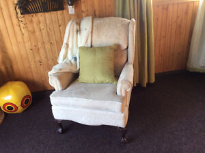White Wing back chair for sale