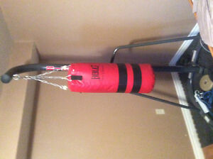 Punching bag and stand like new