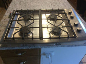 "GE gas 30"" cooktop"