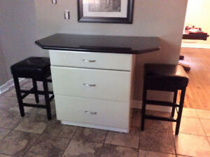 Granite Counter Top and 3 Drawer Pot and Pan Base Cabinet