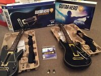 PS3 guitar hero live game + 2 dongles and guitars