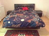 Gorgeous bed and bedside tables. Moving out of province sale!