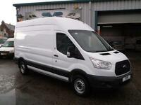 2014 64 FORD TRANSIT LWB HIGH ROOF 350 125BHP 3.5T NEW SHAPE 46000 MILES DIESEL