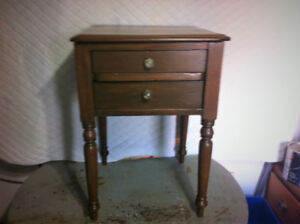 Antique night table, side table