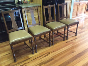 Set of four Oak Dining Room Chairs