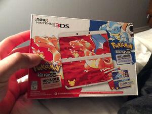 Nintendo 3DS Pokémon red/blue 20 ieme anniversaire