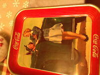 1942 ORIGINAL,  NOT REPRODUCTION, COKE SERVING TRAY RARE FIND