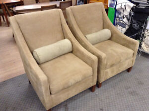 Accent Chairs with Bolster Pillows