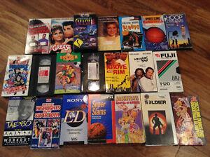 VHS tapes various movies