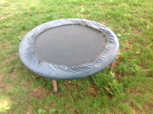 """Trampoline 38"""" X 38""""  solid , used outside"""