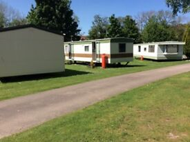 Large static caravan on a quiet caravan park near to Forres Morayshire