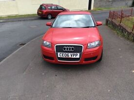 CAR,,,,AUDI A3 2006 1600CC RED MOT,if interrsted in car phone me on phone no provided,or message