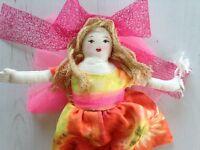 I LOVE YOU Hug Fairy Doll - Collectable Heirloom handmade cloth doll