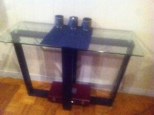 Two Tiered Glass Hall Table