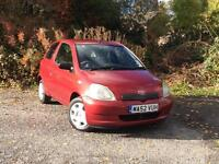 2002 Toyota Yaris 1.0 VVTi Red Colour Collection 3-door hatchback