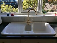 Beautiful porcelain kitchen sink.