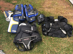 Full set sr. Goalie equipment