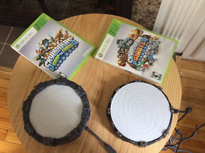 Skylanders Xbox 360-Swap Force & Giant Console-figures and case