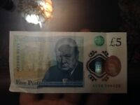 5 POUND NOTE AA SERIES *very cheap*