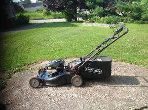 Self propelled lawnmower for sale.