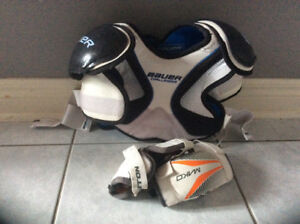 Bauer Chest protector and Easton elbow pads