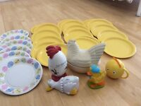 Easter bundle! Plates, crumb pet, cup, chicken egg ceramics!