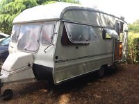 Caravan 2 berth, spares or repair, tea hut or project