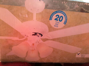 "42"" white ceiling fan Still in the box"