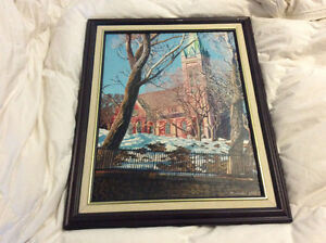 OIL ON CANVAS PAINTING OF THE KIRK St. John's Newfoundland image 1