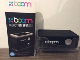 Brand New in box Boom induction portable wireless speaker (black)