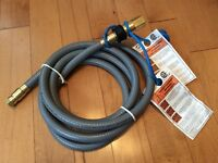 "Natural gas and LP 1/2"" hose, 10' with quick connect"