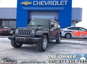 2016 Jeep Wrangler Unlimited Sahara   - one owner - local - trad