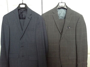 2 100% wool suits.