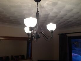 Black metal elegant light fittings(pair)