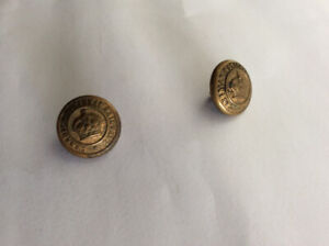 VINTAGE C.N.BRASS BUTTONS FEATURING RAISED CROWN