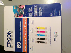 EPSON 69 5 PACK VALUE PACK DURA BRITE ULTRA INK NEW