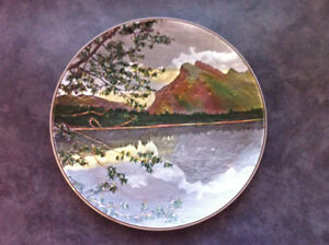 Royal Doulton Vintage Banff, Rundle,  Lake Louise series plate