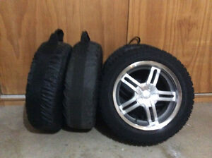 4-Mounted Goodyear Nordic snow tires