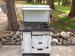 Antique gurney wood and propane stove