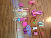 Polly Pocket dolls with extra outfits
