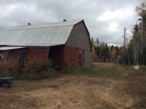 Equestrian barn with pasture
