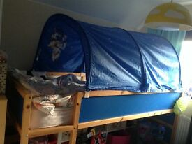 IKEA cabin bed with tent(no mattress)