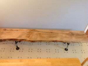LIVE EDGE BENCH FOR KITCHEN Or DINING TABLE