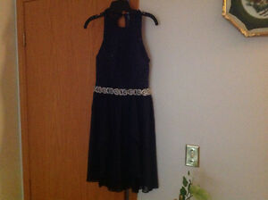 Size 7 Le Chateau Navy Dress