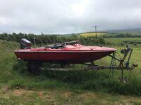 17ft global mirage speedboat