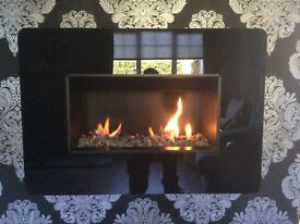 Wall mounted gas fire