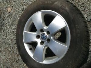 "Volkswagen Alloy Wheels with 15"" Tires  in New Condition"