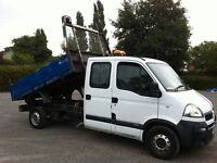 Vauxhall movano 2.5 cdti diesel double cab tipper 2007 07 reg