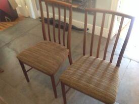 Dining chairs x 4 mid century teak danish style