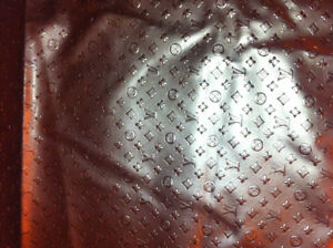 Louis Vuitton leather fabric one yard 36x54 inches